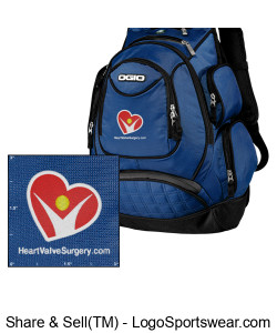 ROYAL BLUE Ogio Metro Backpack Design Zoom