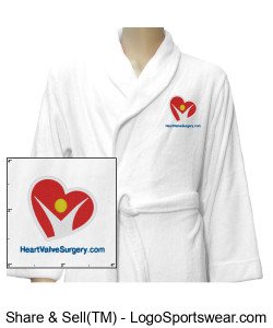 WHITE Unisex Ultra-Soft Plush Hospital Robe Design Zoom